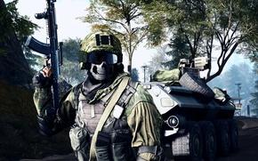 Wallpaper weapons, soldiers, equipment, Battlefield 4