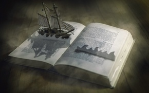 Picture background, ship, book