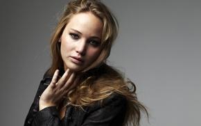 Picture look, background, actress, jacket, hairstyle, photoshoot, Jennifer Lawrence, Jennifer Lawrence, Matt Holyoak