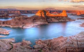 Picture landscape, mountains, river
