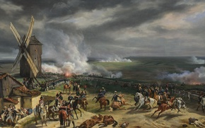 "Picture oil, picture, canvas, ""Battle of Valmy"", «The Battle of Valmy»"