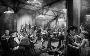 Picture retro, vintage, children's party