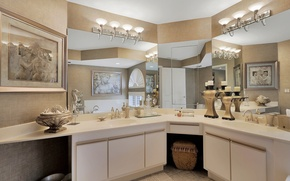 Picture design, pictures, bathroom, mirror, sink