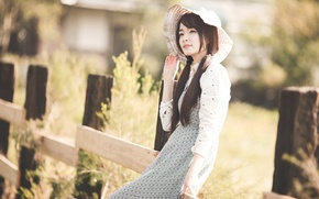 Picture summer, girl, style, Asian