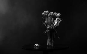 Picture table, bouquet