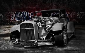 Picture retro, Ford, Ford, classic, the front, 1929, hot rod