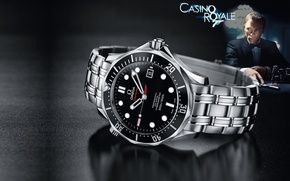 Picture macro, the film, Casino Royale, watch, James Bond, 007, omega, Seamaster, omega, James Bond, Daniel …