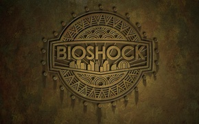 Wallpaper bioshock, logo, rapture