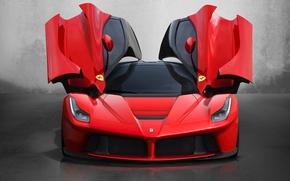 Picture Ferrari, front view, the front, open doors, 2013, LaFerrari