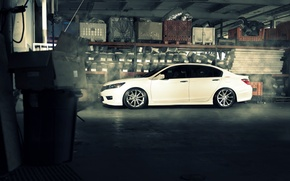 Picture profile, white, wheels, Honda, Accord, Honda, chord, Galpin