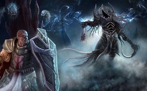 Picture blizzard, Archangel of Wisdom, crusader, reaper of souls, diablo, Malthael, sword, shield, darkness
