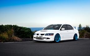 Picture Desktop, Mitsubishi, Lancer, white, Evolution, Car, Beautiful, Style, Lancer, JDM, Wallpaper, Automobiles, Evolution, Mitsubishi