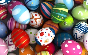 Picture holiday, paint, eggs, Easter