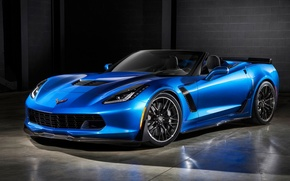 Picture blue, Z06, Corvette, Chevrolet, convertible