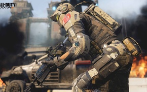 Wallpaper war, Call of Duty: Black Ops 3, future, soldiers