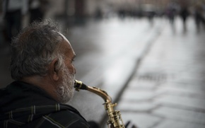 Picture music, Street, Saxophone