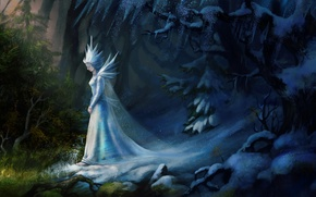 Picture cold, ice, snow, nature, fiction, art, the snow Queen