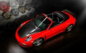 Picture red, tuning, Carrera, Cabriolet, Ball Wed, Porsche 991, Stinger
