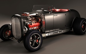 Picture Car, Classic, Black, Tuning, Customize, V8 Engine, Super Charger, Tuned