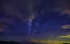 Picture stars, clouds, mountains, night, dal, the milky way