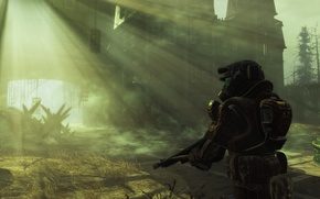 Picture Heath, survival, DLC, power armor, Fallout 4, Far Harbor, post-Apocalypse