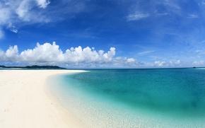 Wallpaper sand, sea, clouds, shore