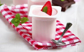 Picture berries, food, chocolate, strawberry, dessert, sweet, chocolate, cream, dessert, strawberries, yogurt, ment, COP