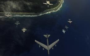 Picture wallpaper, sea, aviation
