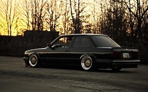Picture black, BMW, BMW, profile, black, e30, 325si
