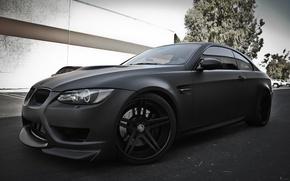 Picture the sky, black, street, bmw, BMW, Matt, e92, daylight, racing dynamics sport, negro mate
