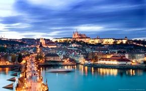 Picture Charles bridge, Hradcany, Prague