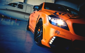 Picture Mercedes-Benz, Auto, The plane, Tuning, Mercedes, Orange, Machine