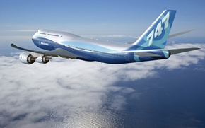 Picture New Aircraft, In flight, Boeing 747-8 Intercontinental