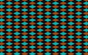 Picture background, blue, black, texture, geometry, diamonds