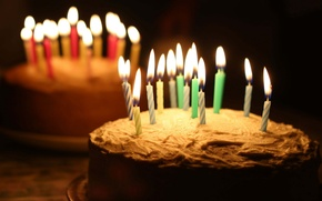 Picture holiday, cake, Happy Birthday, candle