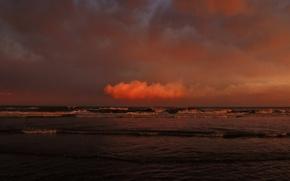 Wallpaper the sky, shore, The ocean
