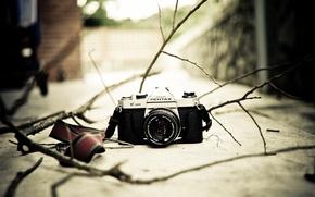 Picture Pentax K1000, background, camera