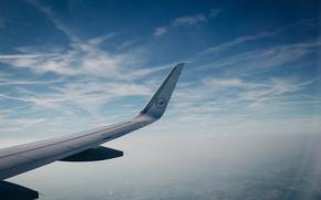 Wallpaper the sky, flight, the plane, wing