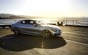 Picture Concept, Auto, Pier, BMW, Machine, Light, Silver, Shadow, Blik, Coupe, 4 Series