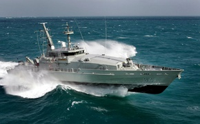 Picture wave, boat, Australia, Navy, class, patrol, Larrakia, HMAS, Armidale