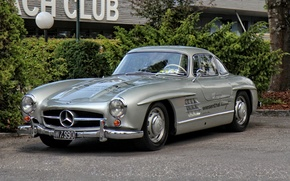 Picture Mercedes, retro, old, 300SL
