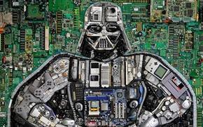 Wallpaper button, chip, Darth Vader, joysticks, Star Wars, Star Wars, Darth Vader, details