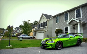 Wallpaper Dodge, green, ACR, SRT-10, Snakeskin Edition, Viper
