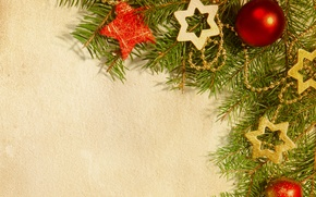 Picture stars, tree, Christmas decorations