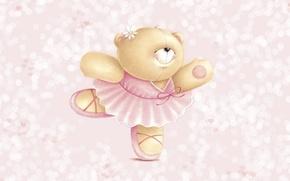 Picture mood, dance, art, bear, ballet, children's, Forever Friends Deckchair bear, platishko, Mishutka