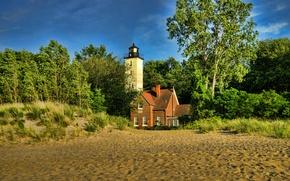 Picture nature, photo, lighthouse, USA, Pennsylvania, Presque Isle