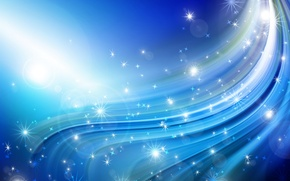 Picture stars, lights, wave, Wallpaper