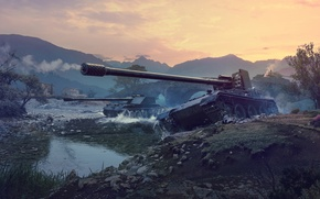 Picture WoT, World of Tanks, PT-ACS, World Of Tanks, Wargaming Net, Tank destroyer, Rhm Borsig Waffentrager, …