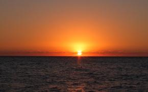 Picture sea, the sun, sunset, Divnomorsk