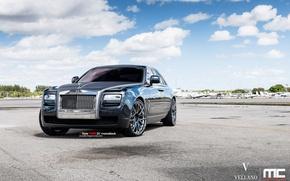 Wallpaper Rolls-Royce, Ghost, black